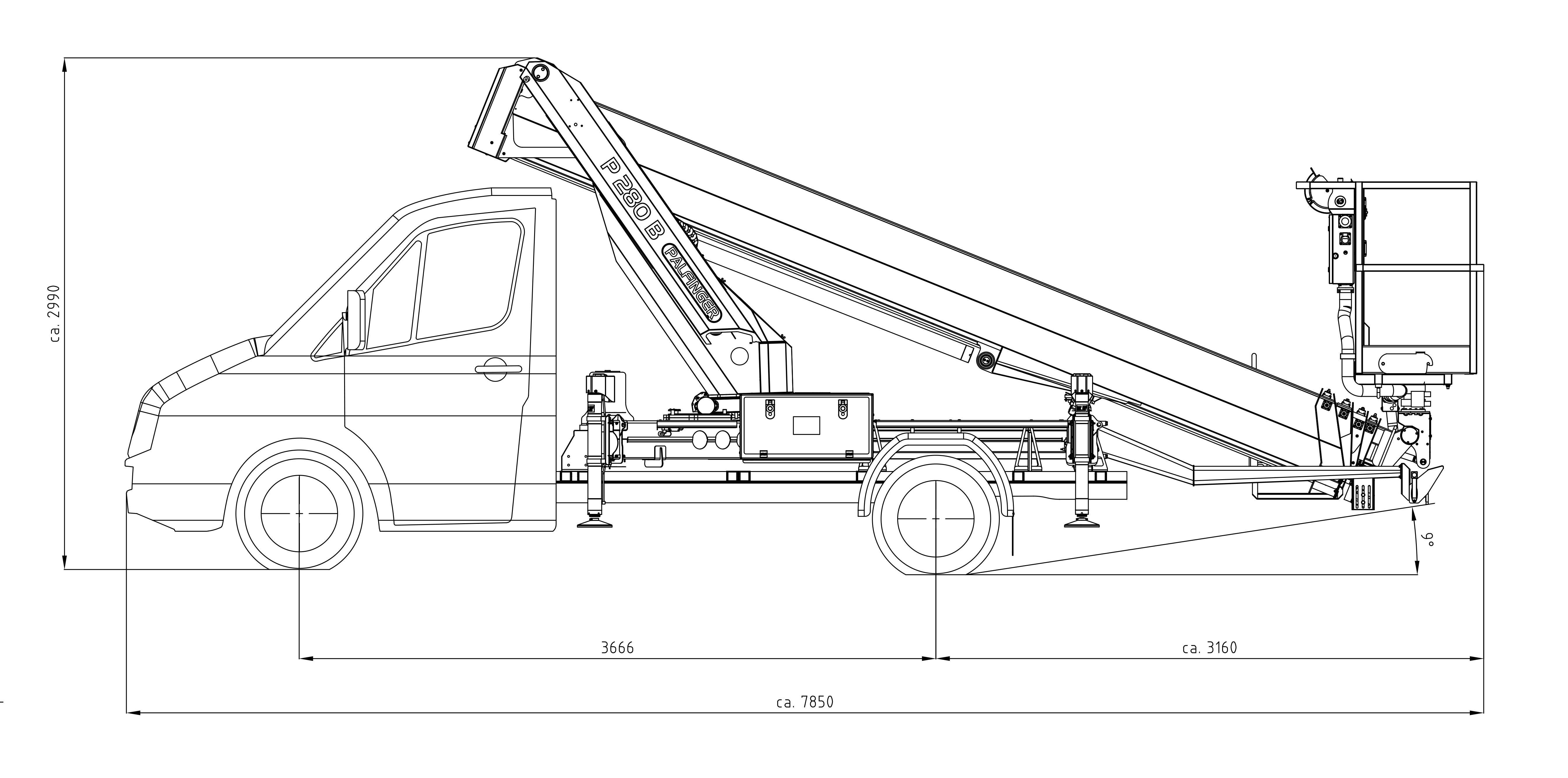 P 280 B Technische Zeichnung