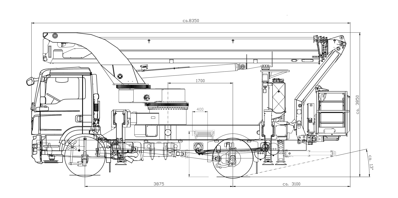 P 370 KS Technische Zeichnung