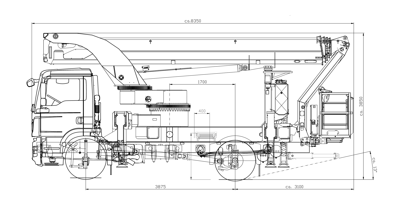 P 370 KS technical drawing