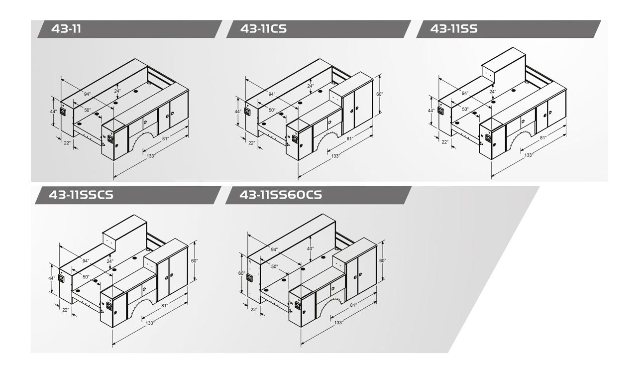PAL Pro 43 Body Configurations