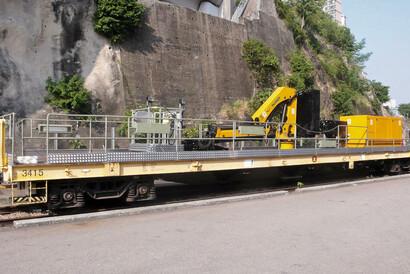 PALFINGER Railway - Fahrzeugmodernisierung - Wagons als Wartungsfahrzeuge