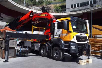 Fotografía de nuestros clientes Mauco S.A., con su nueva PK 165.002 TEC7