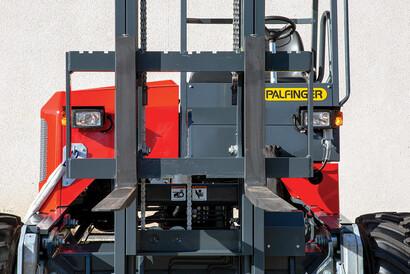 PALFINGER Truck Mounted Forklift Visibility