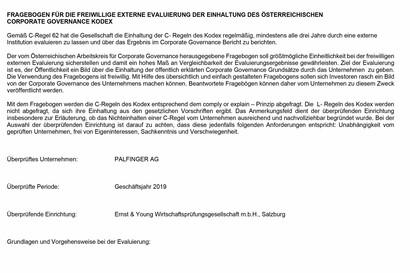 Corporate-Governance Fragebogen