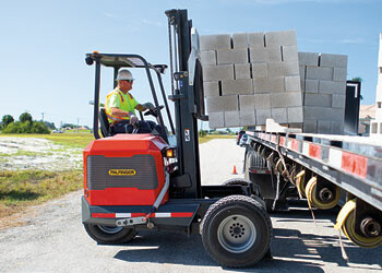 PALFINGER Truck Mounted Forklift Brick and Block Segment