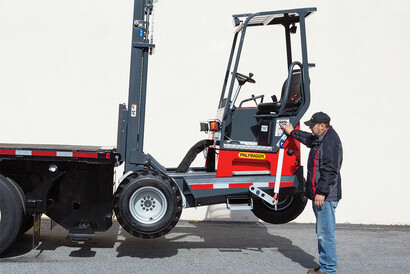 The Re-Envisioned PALFINGER Truck Mounted Forklift with Ground Control