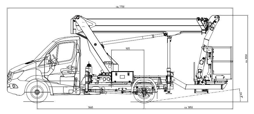 P 250 BK Technische Zeichnung