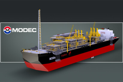 © MODEC Inc.; Bachalhao FPSO illustration. With a length of 339 meters, MODEC's new vessel will be the largest FPSO ever to be operated in Brazil.