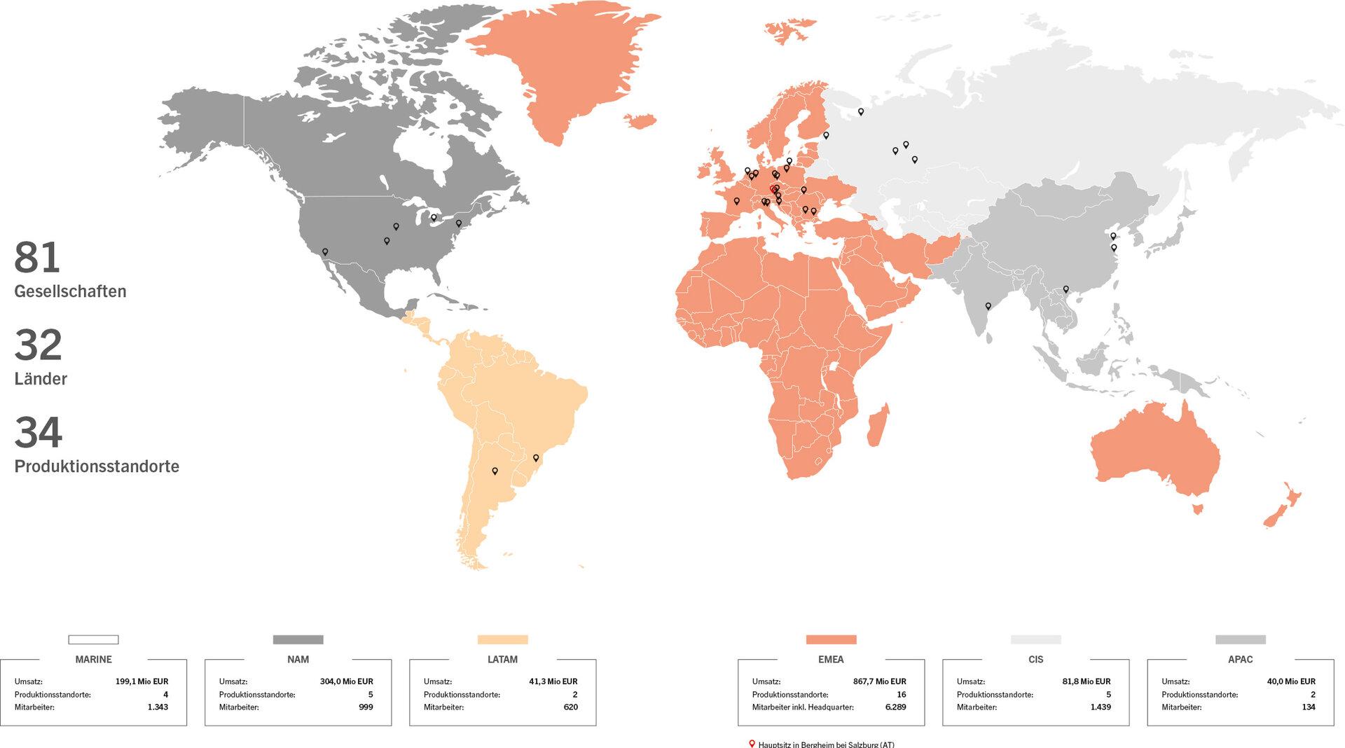Standorte weltweit